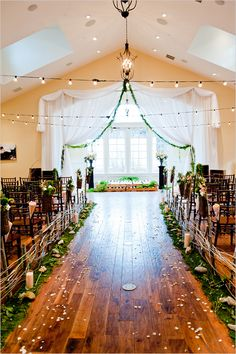 This rustic #wedding ceremony location is so amazing! From http://weddingchicks.com/2012/09/27/vintage-garden-peach-wedding-ideas/  Event Design: http://peterlovesjane.com/, http://ellabellafloral.blogspot.com/  Photo Credit: http://ayaphotography.com/, http://casciophoto.blogspot.com/, http://iamcasey.com/, http://jessicasphoto.com/, http://oakstreamphotography.com/