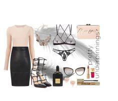 """Pretty underpinnings"" by callmeblondie-blog on Polyvore featuring moda, BCBGMAXAZRIA, G-Love Lingerie, Agent Provocateur, Maison Margiela, Christian Louboutin, Dolce&Gabbana, Yves Saint Laurent, Tom Ford e Dita"