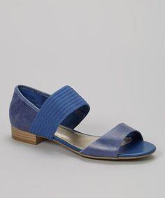Loving this Dark Blue Kindness Sandal on #zulily! #zulilyfinds
