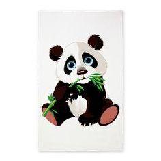 Panda Eating Bamboo 3'x5' Area Rug > Panda Eating Bamboo 2 > World of Animals