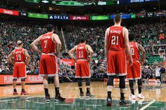 The Milwaukee Bucks during the game against the Utah Jazz at EnergySolutions Arena on February 28, 2015 in Salt Lake City, Utah. Photo by Melissa Majchrzak/NBAE