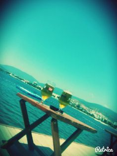 sea with love. beer.