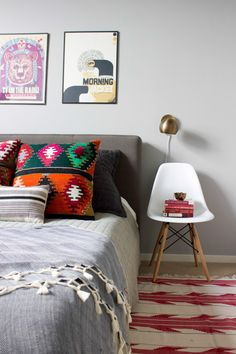 A Colorful Home in An Old Chicago Calculator Factory | Issac sconce | Schoolhouse Electric | Design*Sponge