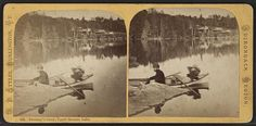 Sweeney's Carry, Upper Saranac Lake.   by New York Public Library