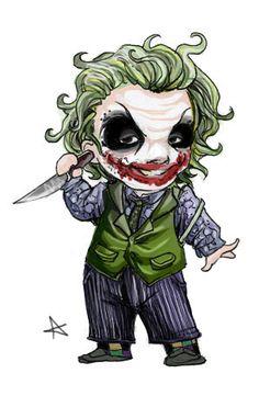 Chibi Joker by alexaaaaa.deviantart.com on @DeviantArt