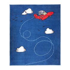 FLYGTUR Dywan z krótkim włosiem, niebieski niebieski 133x160 cm