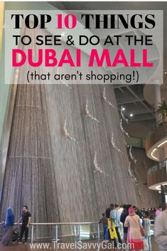 Top Ten Things to See and Do at the Dubai Mall that aren't shopping UAE