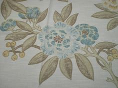 HARLEQUIN CRAFT FABRIC REMNANT  ADONICA  COTTON/ LINEN BLEND 95 CM X 145 CM