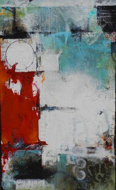 "Julie Havel,   ""Abundance I""  Acrylic & Mixed Media on Canvas  36"" x 60"""