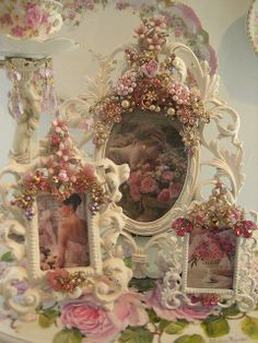 shabby chic frames...would be an easy #DIY project