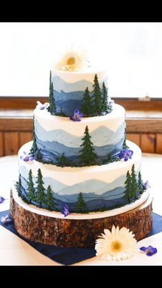 Beautiful forest cake