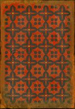 Vintage Vinyl Floor Cloth Pattern 3 Red Rum   Pura Vida Home Decor