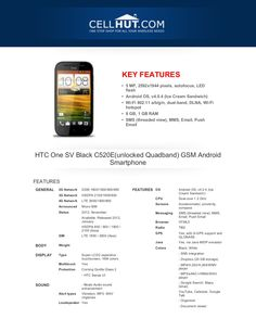 htc-onesvblackc520-eunlockedquadbandgsmandroidsmartphonebrochure33290 by Cellhut via Slideshare