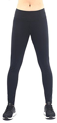 EAST HONG Womens Performance Yoga Pants Workout Leggings Running Pants With Pocket L Black ** Check this awesome product by going to the link at the image. (Note:Amazon affiliate link)