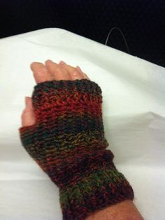Crocheted Fingerless Glove by BizzyBeeGifts on Etsy