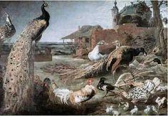 A gralha e o pavão, s/d Frans Snyders (Bélgica, 1579-1657) Óleo sobre tela