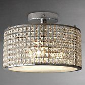Buy i4DZINE Victory Crystal Bathroom Semi-Flush Light | John Lewis