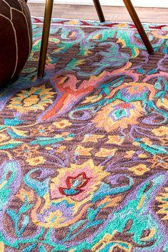 RadianteMD01 Wild Pastel Garden Rug