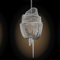 Hang this and you might have a chain reaction.  (Terzani atlantis chandelier)