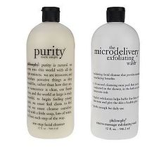 Philosophy, cleansing and exfoliation, good for all skin types (Purity and Microdelivery exfoliating wash)