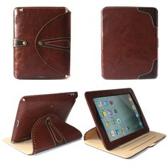 Genuine Leather iPad Stand Tablet for iPad 1-5