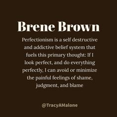 Brene Brown on perfectionism The Words, Cool Words, Brene Brown Zitate, Great Quotes, Quotes To Live By, Motivational Quotes, Inspirational Quotes, Quotes Quotes, Coaching