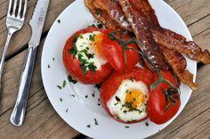 Baked Tomato & Egg Breakfast
