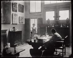 Man Ray, Gertrude Stein and Alice Toklas in the atelier at 27 rue de Fleurus, Paris, 1922
