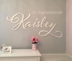 Alphabeticals Nursery Name Sign Girl Boy Custom Wooden Letters for Wall Decor Over Crib Baby Name Signs for Nursery Wall Letters Madilynn - Cute baby names - bebe Baby Name Letters, Wooden Wall Letters, Baby Name Signs, Nursery Letters, Nursery Signs, Letter Wall, Large Letters, Nursery Name Decor, Nursery Ideas