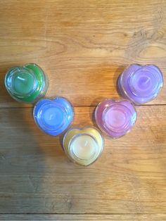 mini aroma bottole candle heart assort