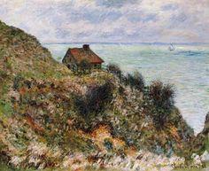 Claude Monet-The Customs Officers' Hut at Pourville