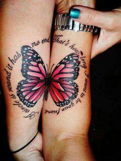 Friends butterfly tattoo