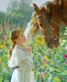 Vladimir Gusev (Russian, b. Painted Horses, Paintings I Love, Beautiful Paintings, Art Et Illustration, Illustrations, Russian Art, Renaissance Art, Horse Art, Pictures To Paint