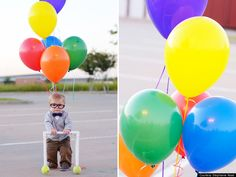 UP - Oh my word. How cute is this! Would make a great Halloween costume. Or perhaps send out with an invitation to an up/balloon-themed birthday party.