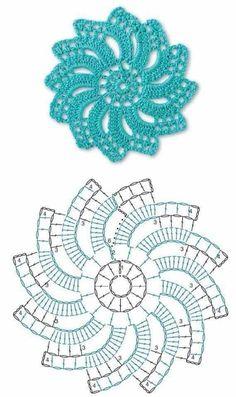 Not your grandmother's doily - Spectacular suede crochet doily - Free app . Not your grandmother's doily - Spectacular suede crochet doily - Free pattern, Motif Mandala Crochet, Crochet Flower Squares, Crochet Doily Diagram, Crochet Mandala Pattern, Crochet Motifs, Crochet Circles, Crochet Flower Patterns, Crochet Chart, Thread Crochet