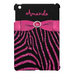 PRINTED RIBBON Pink Glitter Zebra iPad Mini Case lowest price for you. In addition you can compare price with another store and read helpful reviews. BuyDeals          	PRINTED RIBBON Pink Glitter Zebra iPad Mini Case today easy to Shops & Purchase Online - transferred directly secure...