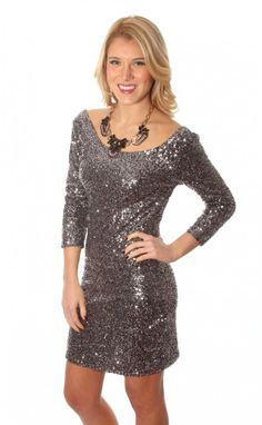 What a SHOWSTOPPER!!!! Riffraff | capture the moment dress - charcoal sequin #shopriffraff #riffraffdreamcloset