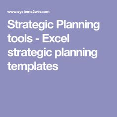 Strategic Plan Template  Editable Version  Five Year Plan
