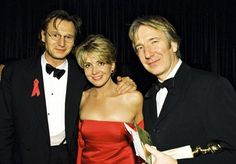 January 1997 - Alan Rickman with Liam Neeson [and Liam& wife, Natasha. January 1997 – Alan Rickman with Liam Neeson [and Liam& wife, Natasha… January 1997 – Alan Rickman with Liam Neeson [and Liam& wife, Natasha… Liam Neeson, Natasha Richardson, Alan Rickman Severus Snape, Snape Harry, Alan Rickman Movies, Cinema, Love Actually, Actrices Hollywood, Irish Men