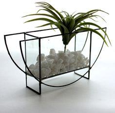 Modern Geometric Half Circle Glass Terrarium Stained Glass