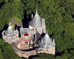 Aerial View Castell Coch