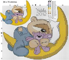 Cross Stitch For Kids, Cute Cross Stitch, Cross Stitch Animals, Cross Stitch Charts, Cross Stitch Designs, Cross Stitch Patterns, Cross Stitching, Cross Stitch Embroidery, Embroidery Patterns