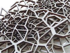 Billedresultat for laser cut patterns Laser Cut Wood, Laser Cutting, 3d Pattern, Pattern Design, Interior Cladding, Laser Cut Screens, Laser Cut Patterns, Layers Design, Texture Design