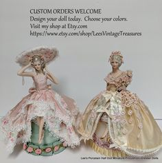Boudoir, Half Dolls, Dolls Dolls, Welcome Design, Broach Bouquet, Sewing Case, Barbie, China Dolls, Powder Puff