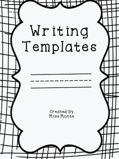 These are great for writers workshop or literacy centers!