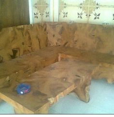 set furniture natural akar jati