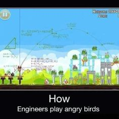 How Engineers play angry birds :D