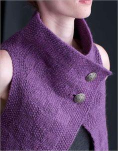 Designer-inspired knit vest