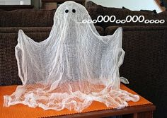 Easy to make ghost for Halloween!