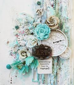 My Craft and Garden Tales: Mixed Media Canvas with video tutorial